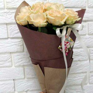 ,ertn bp 11 кремовых роз Покровск