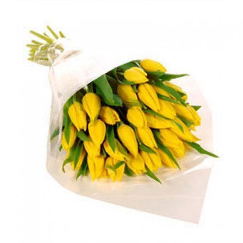Фото товара 25 желтых тюльпанов в Покровске