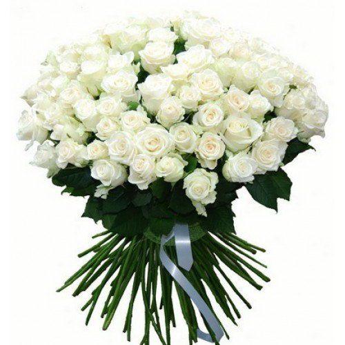 Фото товара 101 белая роза в Покровске