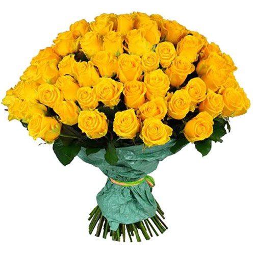 Фото товара 101 желтая роза в Покровске
