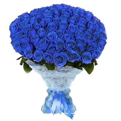 Фото товара 101 синяя роза (крашеная) в Покровске
