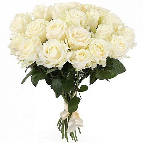 Фото товара 21 белая роза в Покровске