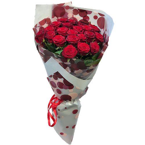 Фото товара 21 красная роза в Покровске