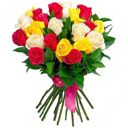 Фото товара 21 роза микс в Покровске