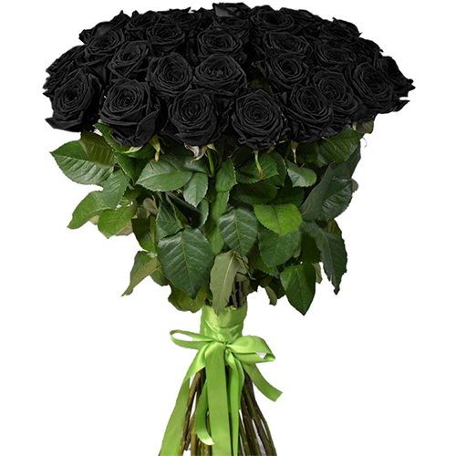 Фото товара 25 черных роз в Покровске