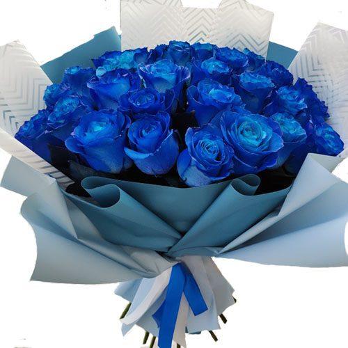 Фото товара 33 синие розы в Покровске