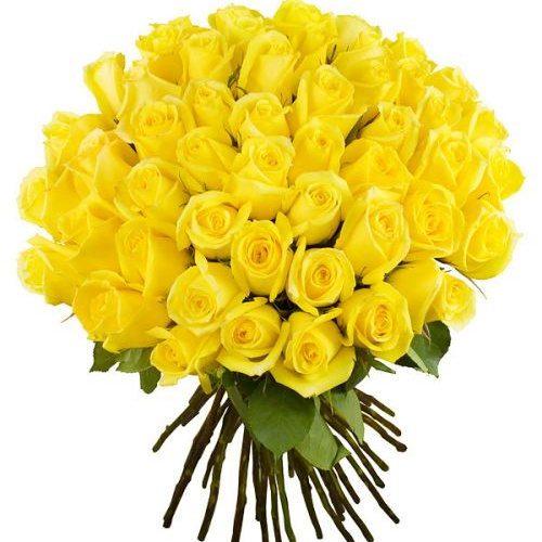 Фото товара 51 желтая роза в Покровске