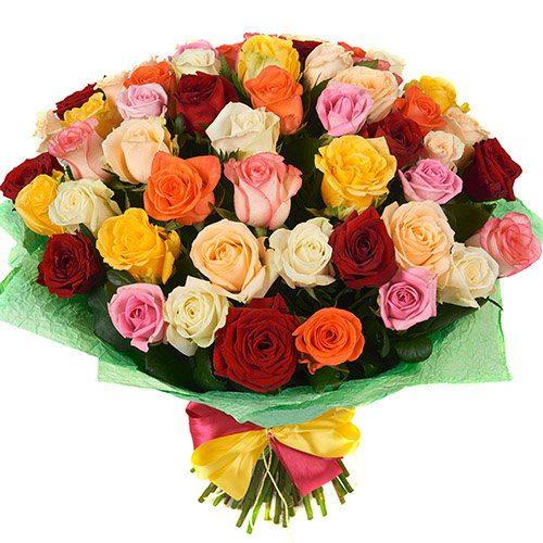 Фото товара 51 роза микс в Покровске