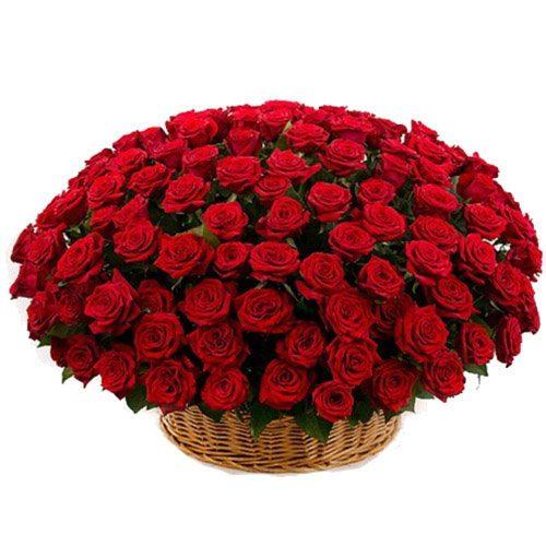 Фото товара Корзина 101 красная роза в Покровске