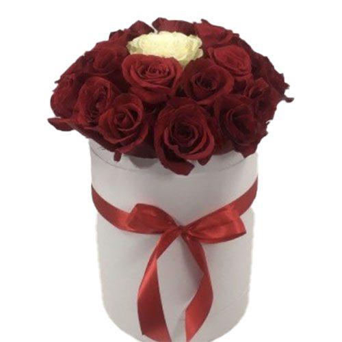 "Фото товара Коробочка 21 роза ""Неповторимая"" в Покровске"