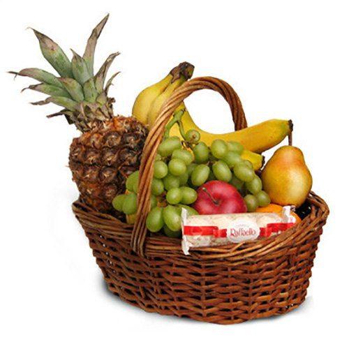 Фото товара Средняя корзина фруктов в Покровске