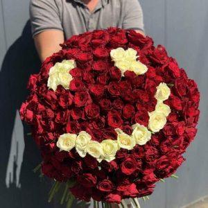 Фото товара 201 роза Смайлик в Покровске