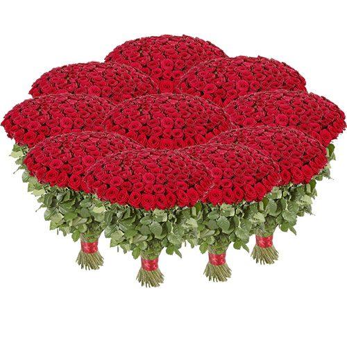 Фото товара Букет 1001 красная роза в Покровске