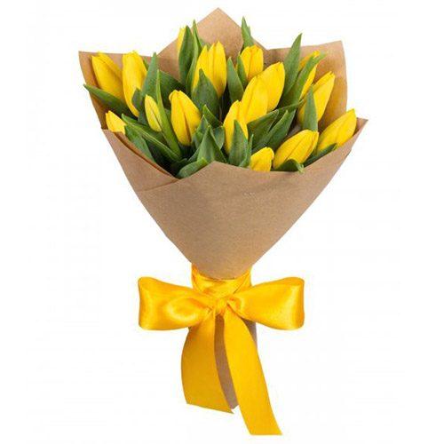 Фото товара 15 жёлтых тюльпанов в Покровске