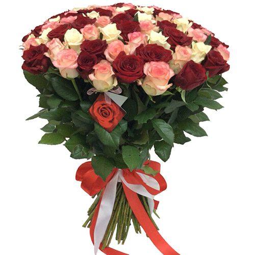 """Фото товара 101 роза """"Розовый жемчуг"""" в Покровске"""